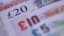 'Sterling was last trading flat versus the dollar at $1.2736 but versus a broadly stronger euro it was 0.5pc lower at 90.98 pence.' (stock photo)