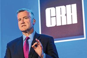 Momentum: CRH, headed by chief executive Albert Manifold, expects earnings jump in 2019