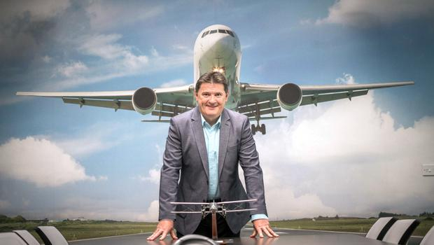 Flying high:  Joe Gilmore, the CEO of Ireland West Airport in  Co Mayo
