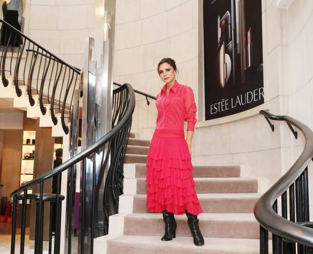 Ambassador: Victoria Beckham launching her collaboration with Estee Lauder in Brown Thomas, Dublin