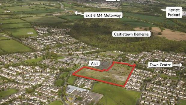 Jordan Auctioneers is guiding €450,000 an acre for this site in Celbridge in Co Kildare