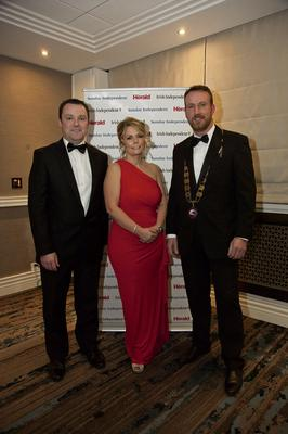 Paul Muldoon (Independent Advertising Manager), Ciara Murphy (Director General of the Society of Chartered Surveyors Ireland) and Micheál O'Connor (President of the Society of Chartered Surveyors Ireland).
