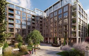 Lansdowne Place,  €1m-plus apartments on the site of former Berkeley Court being built by Joe O'Reilly's Chartered Land.