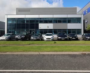 Knight Frank is seeking annual rent of €100,000 for this warehouse at Stadium Business Park