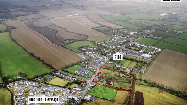 Development: The site in Ballyboughal, north Co Dublin