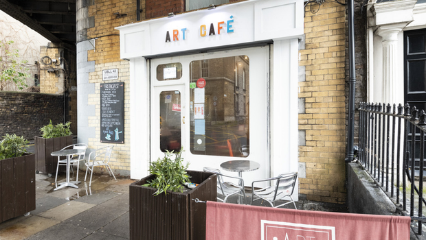 Two-storey building: Art Café on busy Gardiner St in Dublin 1