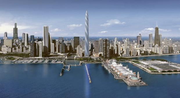 The planned Chicago Spire