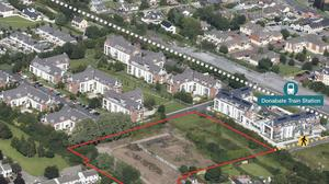 A 2.87 acre site at Turvey Avenue, in Donabate, located 50m from the local train station