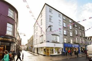 Offering: The landmark corner building at 1 Shop Street, Galway, is let by Three Ireland