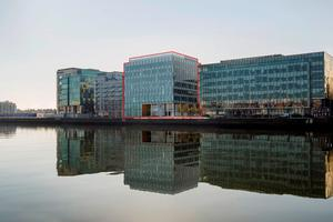 An artist's impression of the new building proposed for John Rogerson's Quay, Dublin