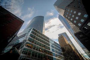 Goldman Sachs' New York HQ. The big banks are seeking new office space in Manhattan.