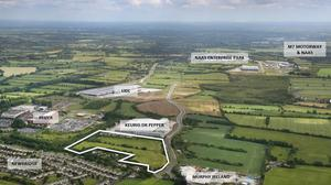 The 23.6-acre site at Great Connell Business Park, Newbridge