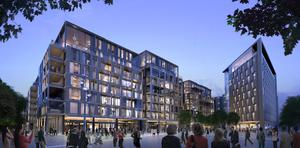 A rendering of the proposed redevelopment of the former Berkeley Court and Jurys Hotels in Ballsbridge