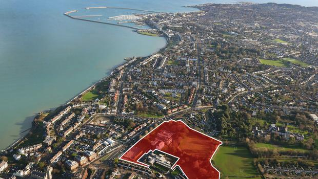 Room with a view: The site is located in the seaside suburb of Blackrock