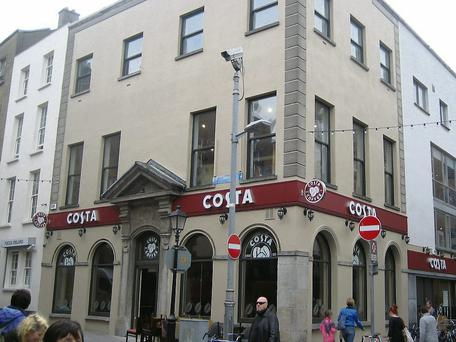The Costa Coffee outlet at Temple Bar
