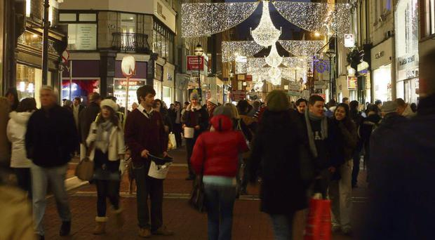 JINGLE TILLS: Dublin's Grafton Street expects a Christmas bonanza, with Brown Thomas alone taking on 200 extra staff