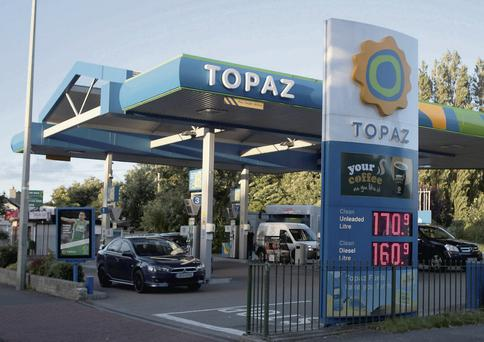 UP FOR GRABS: Loans belonging to Topaz Oil are believed to be wrapped up in Project Evergreen, as the Anglo and Irish Nationwide loan books are divided into projects for the sell-off
