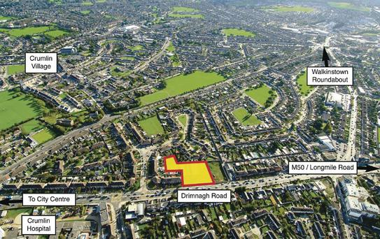 The 1.07 acre site on Drimnagh Road, which was quoting €750,000 was sold