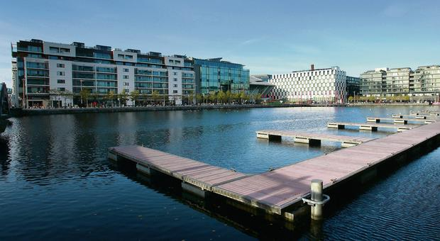 Grand Canal Dock, where office space is now at a premium. The office market in Dublin hit its fastest rate for a decade in the first quarter of this year.