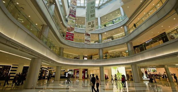 Minhang Plaza shopping centre, developed by CapitaMalls Asia in Shanghai, China. Photo: Bloomberg