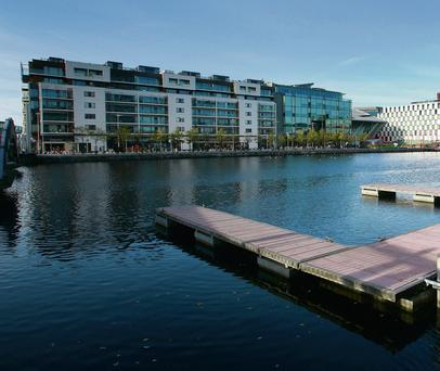 Potential: Dublin's Grand Canal Dock is popular with the likes of Google, Facebook and other software and technology companies.