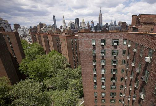 Apartments: New York's Stuyvesant development. Rents are rising as the market switches