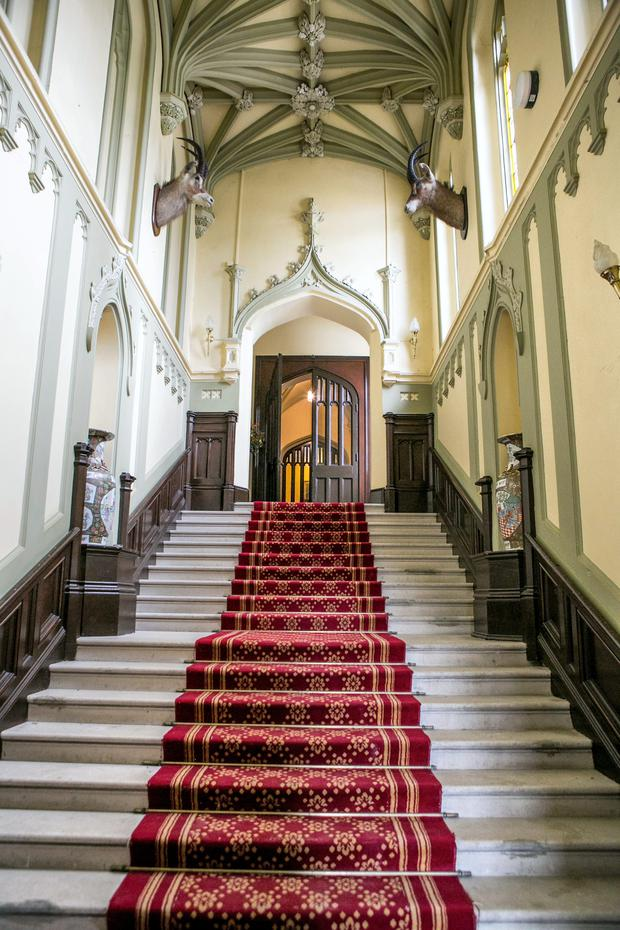 The grand staircase at Markree Castle