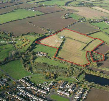 Lands at Rivermeade which were auctioned by Savills