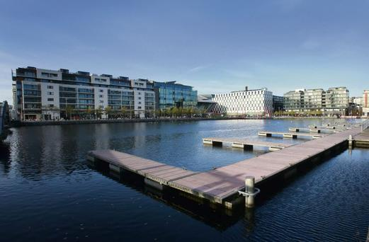 An office near the Grand Canal Docks benefits from dozens of cafes, restaurants, parks and nice living quarters nearby.