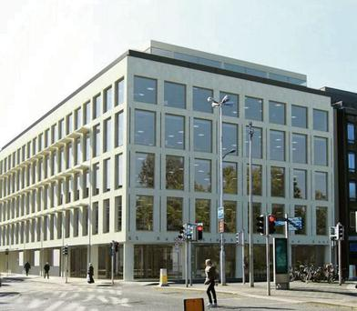The planned LXV building on St Stephen's Green has secured the highest rent since the boom at €60 per sq ft