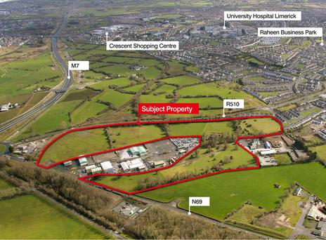 Bannon are acting as agents over this 30.75 acre site adjacent Castlemungret Industrial estate in Limerick