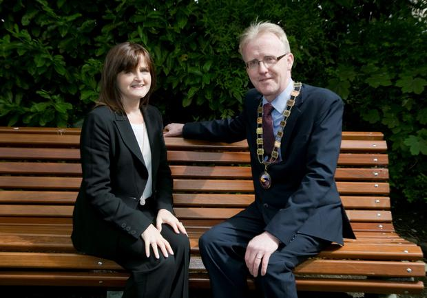 Outgoing MediKids president Pauline Daly and incoming president Andrew Nugent