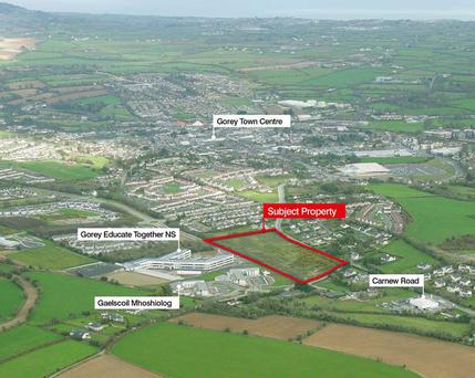 Bannon is guiding €1m for this site in Gorey, Co Wexford