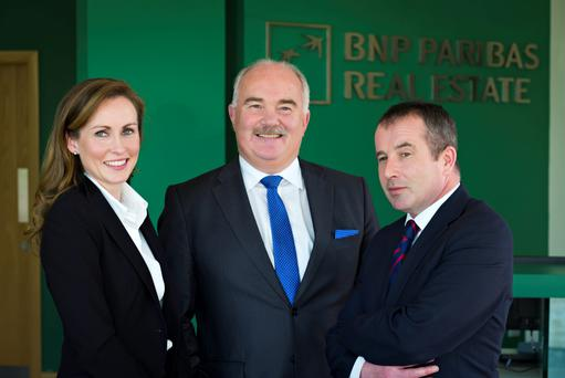 BNP Paibas Real Estate head of research Joan Henry, managing director Patrick Curran, and executive director Eoin Feeny