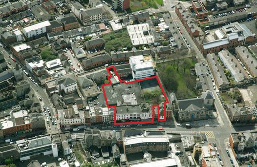 The old Frawley's site at 30 & 32-36 Thomas Street, Dublin 8 which was bought this year by Hattington Capital for a student accommodation project