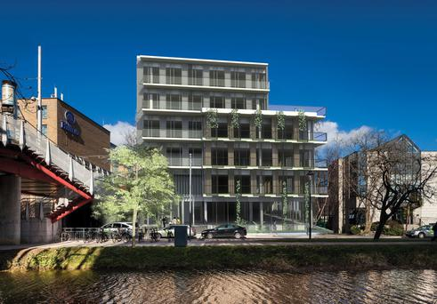 A rendering of proposed offices at Charlemont on the Grand Canal