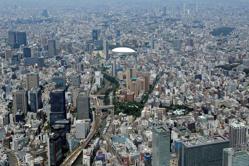 An aerial view of Tokyo. Chinese buyers are looking to snap up Japanese property