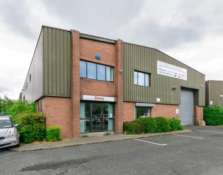 Knight Frank is quoting €2.6m for nine industrial units in Sandyford Industrial Estate