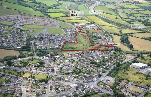 QuinnAgnew is seeking €1.75m for this development site at Rathnew