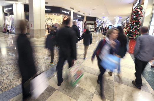 A busy Dundrum shopping centre. Picture credit; Damien Eagers 2/12/2014