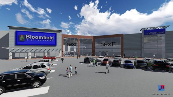 A rendering of Bloomfield Shopping Centre outside Bangor, Co Down