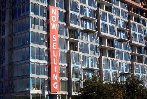 New condos in Vancouver. The city is now the most expensive in North America