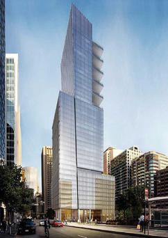 The proposed Park Tower at Transbay