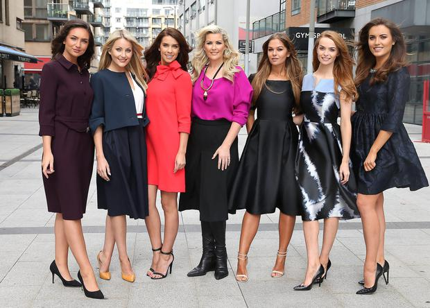 TV presenter Lisa Fizpatrick (centre) with models Shauna Lindsey, Kerrie Nicole Blanc, Adrienne Murphy, Natalia Piechaczek, Aoife Walsh and Holly Carpenter as recently they showed off the latest fashions at 'Lisa Fitzpatrick's Fashion Fix with Arnotts'. Photo: Brian McEvoy