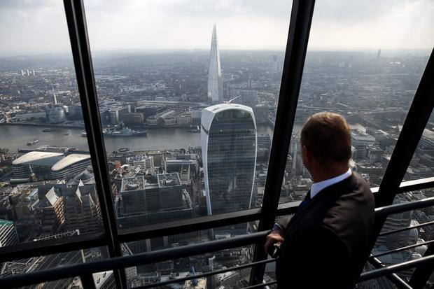 The view across London from the Leadenhall Building, better known as the Cheesegrater.