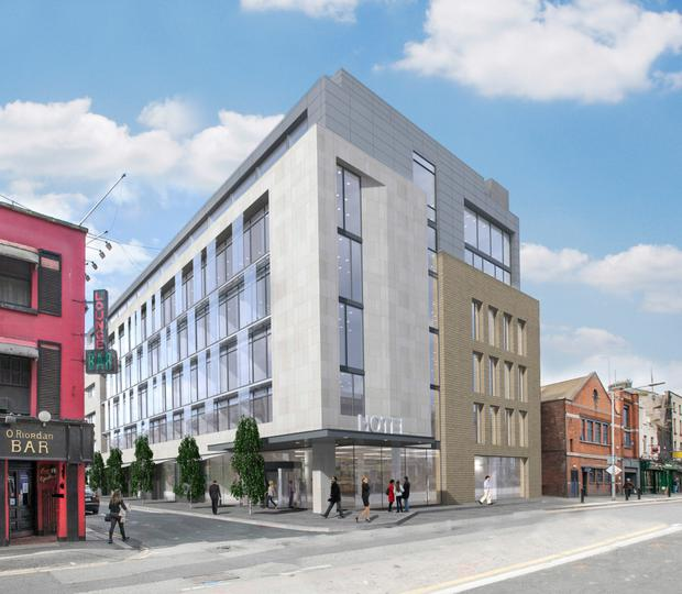 Tetrarch Capital hope to build this hotel at the corner of Marlborough Street and Sackville Place behind Clerys