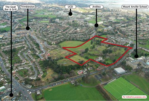 The Knockrabo site in south Dublin is thought to have sold for more than €23m