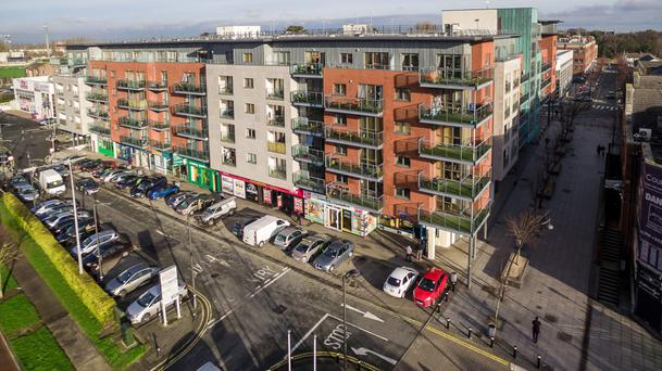 Knight Frank is quoting €6m for this apartment blcok at Abberley Square in Dublin 24