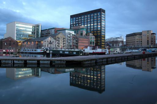 Dublin will continue to boom this year, but the speed of top office rent increases will ease off compared to 2015. Photo: Bloomberg