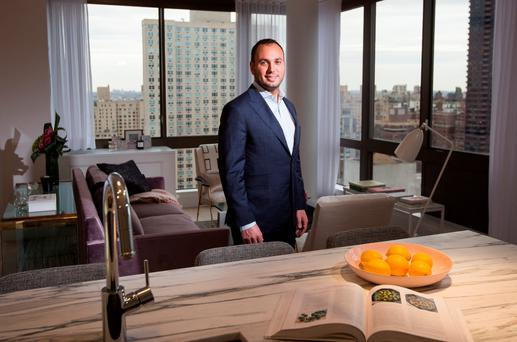 Magnum Real Estate president Ben Shaoul at the company's new condo tower at 389 E 89th Street in New York.